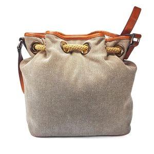 Michael Kors Bags - Michael Kors Marina Leather & Canvas Messenger Bag